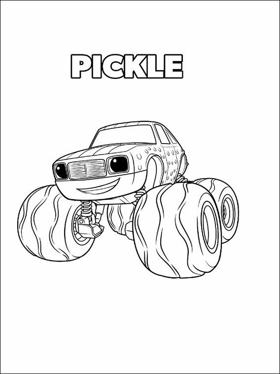 Blaze And The Monster Machines Coloring Pages 5 With Images