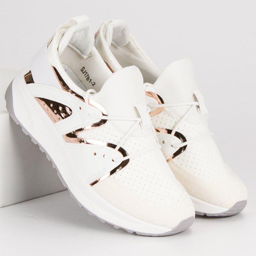Stylowe Buty Sportowe Biale Wedding Sneaker Sneakers Wedding Shoe