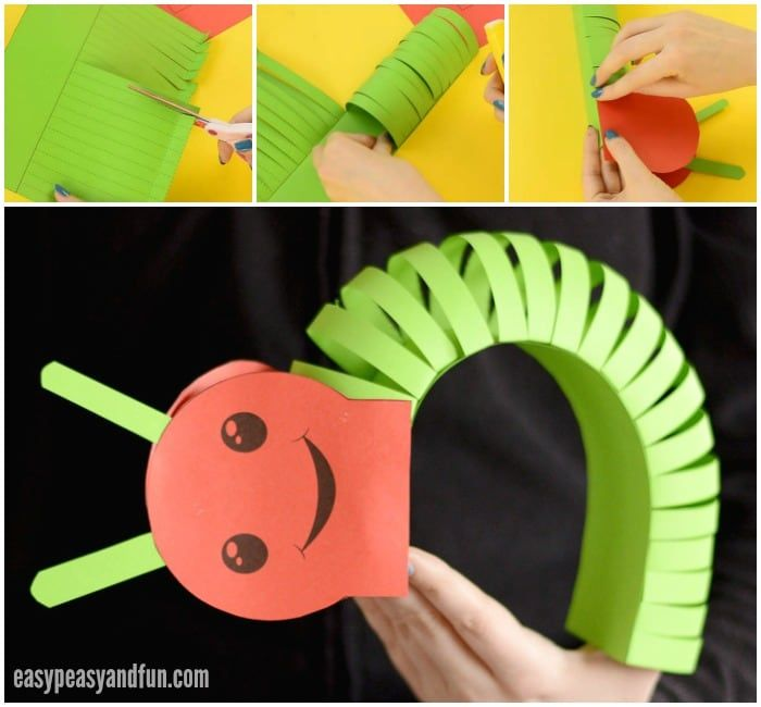 3d Paper Caterpillar Craft With Template Hipp Camp