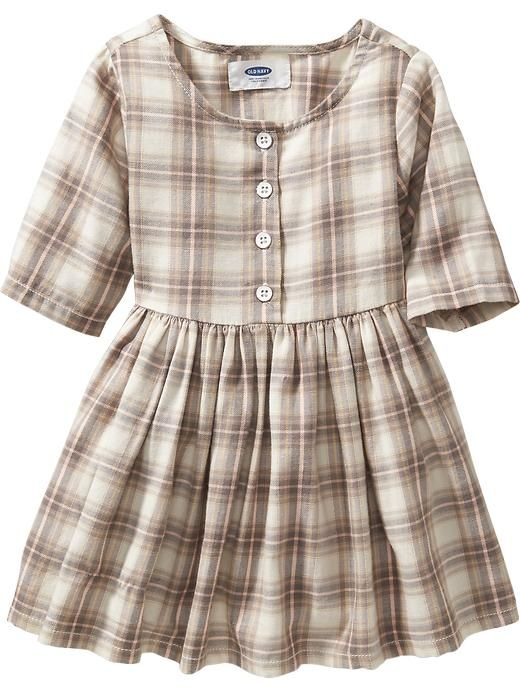 7ff1b704493 Old Navy fall fashion for toddler girl. Plaid Fit   Flare Twill Dress
