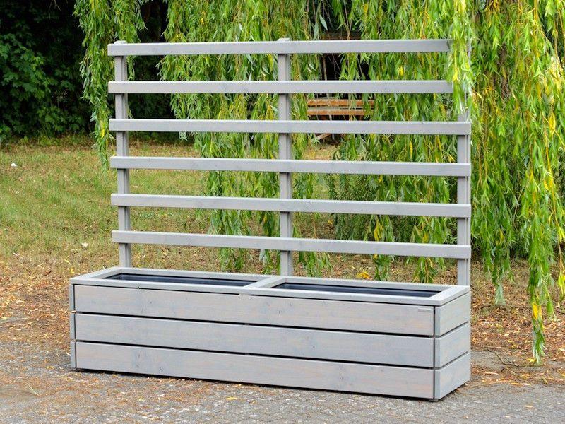Pflanzkasten mit Rankgitter / Spalier Holz Lang L