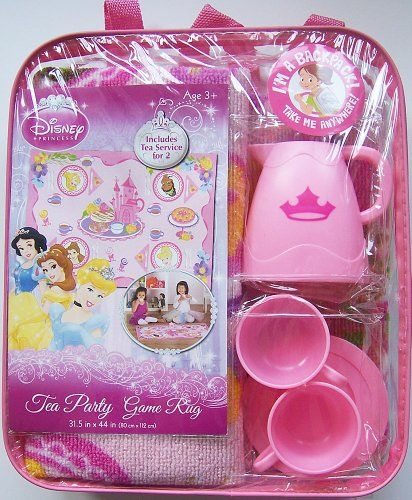 Disney Princess Tea Party Game Rug Backpack Amp Tea