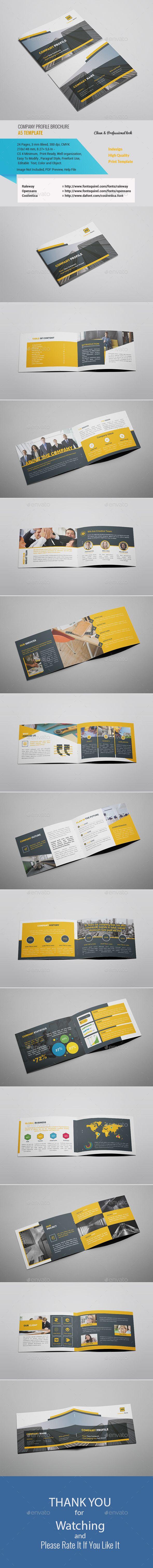 A5 Company Profile Company Profile Company Profile Template Corporate Profile
