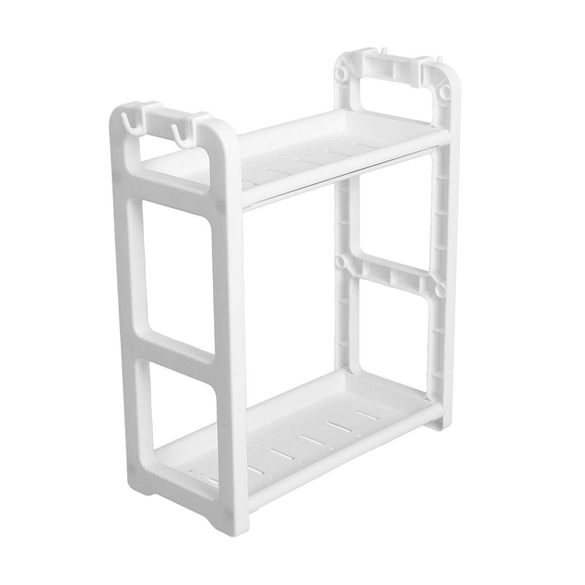 2 Tier Table Standing Rack Kitchen Bathroom Shelf Countertop Bathroom Organizer Tier Shelf Storage In 2020 Countertop Storage Bathroom Shelves Kitchens Bathrooms