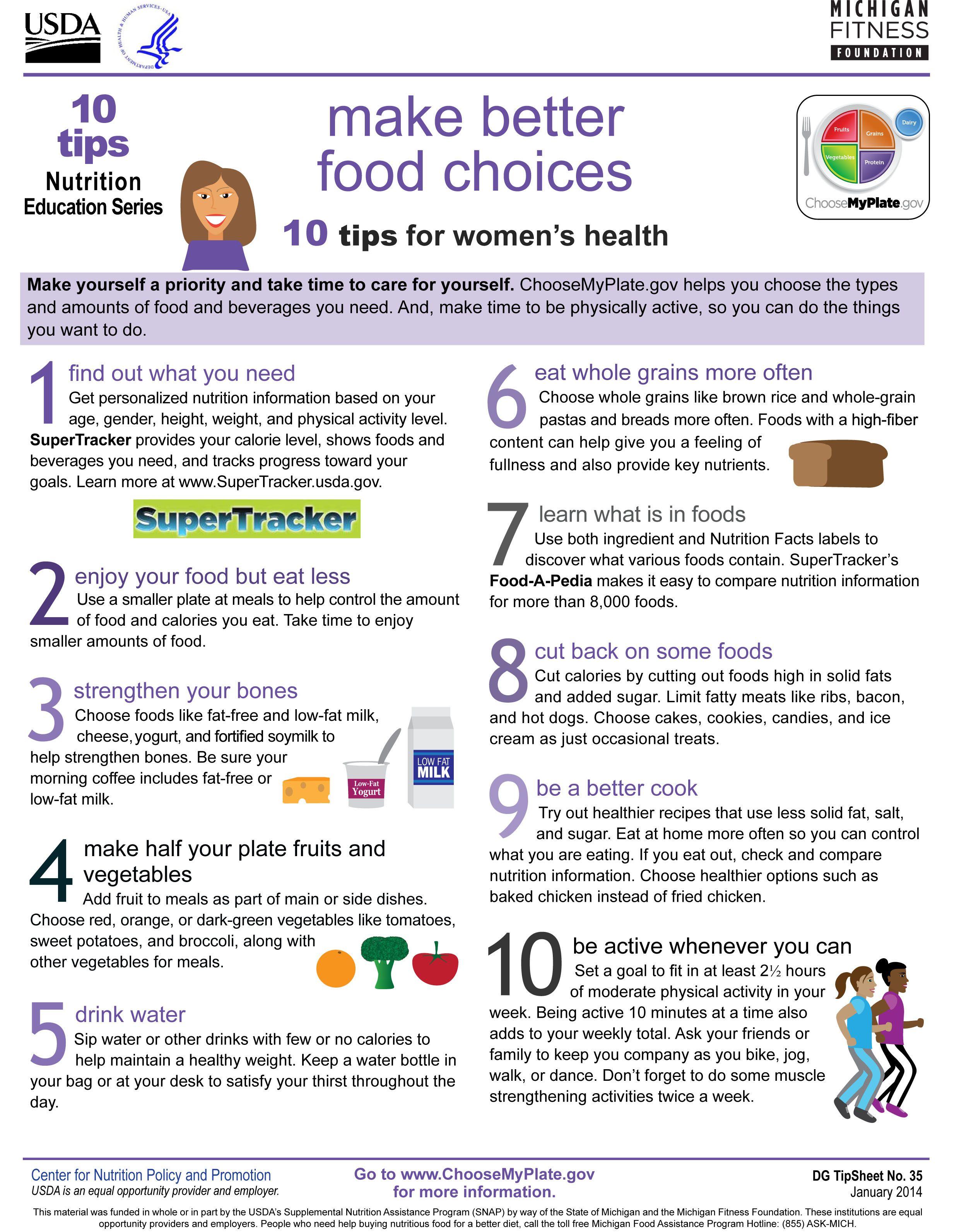 Women health tips healthy
