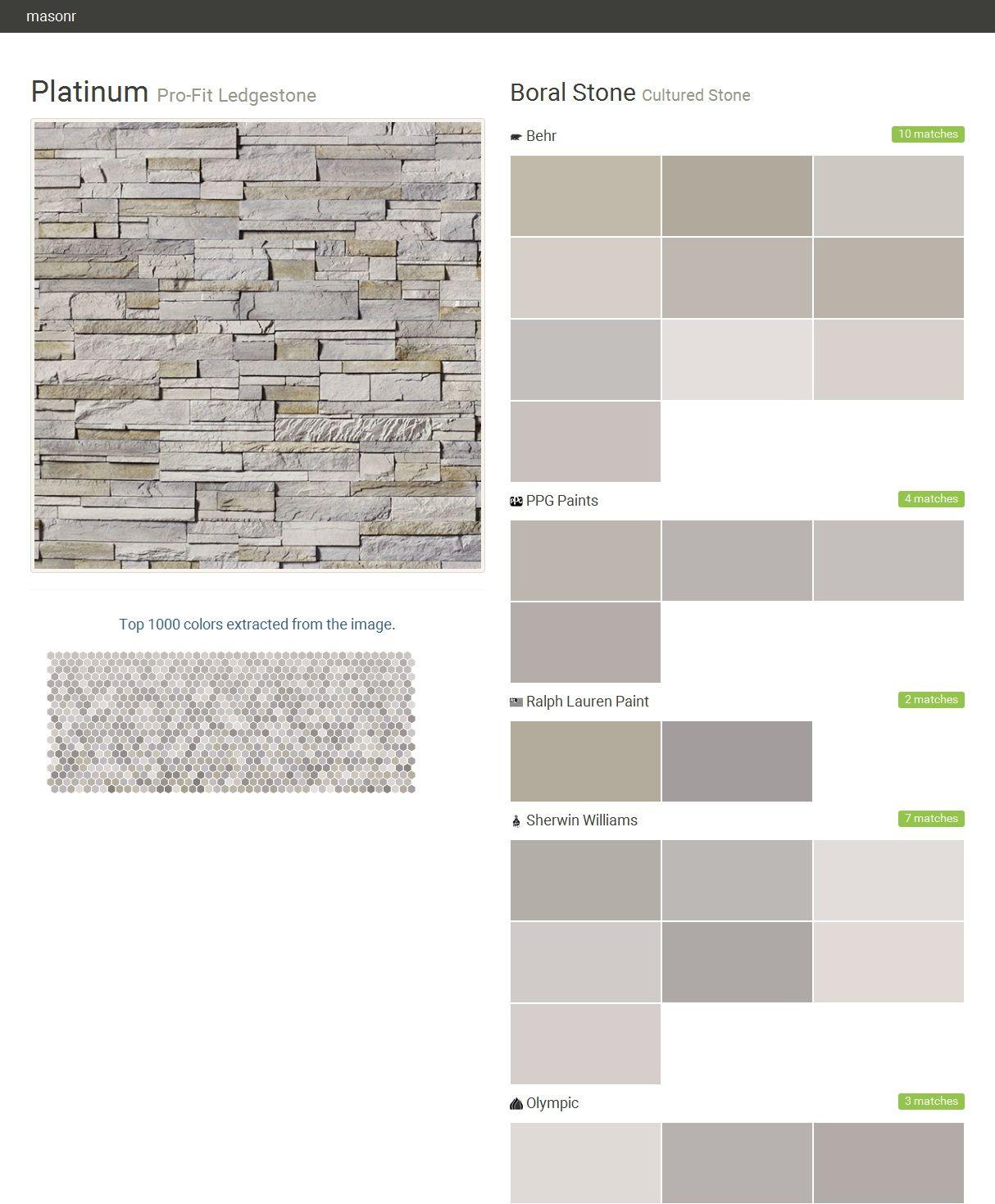 Platinum pro fit ledgestone cultured stone boral stone for Behr pro paint