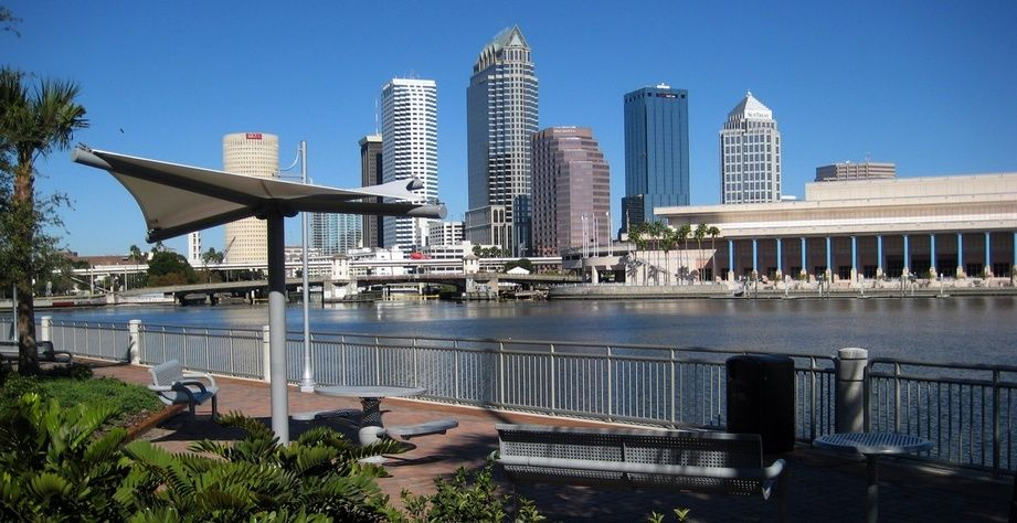 Tampa Fl Downtown Tampa From Davis Islands Tampa Downtown