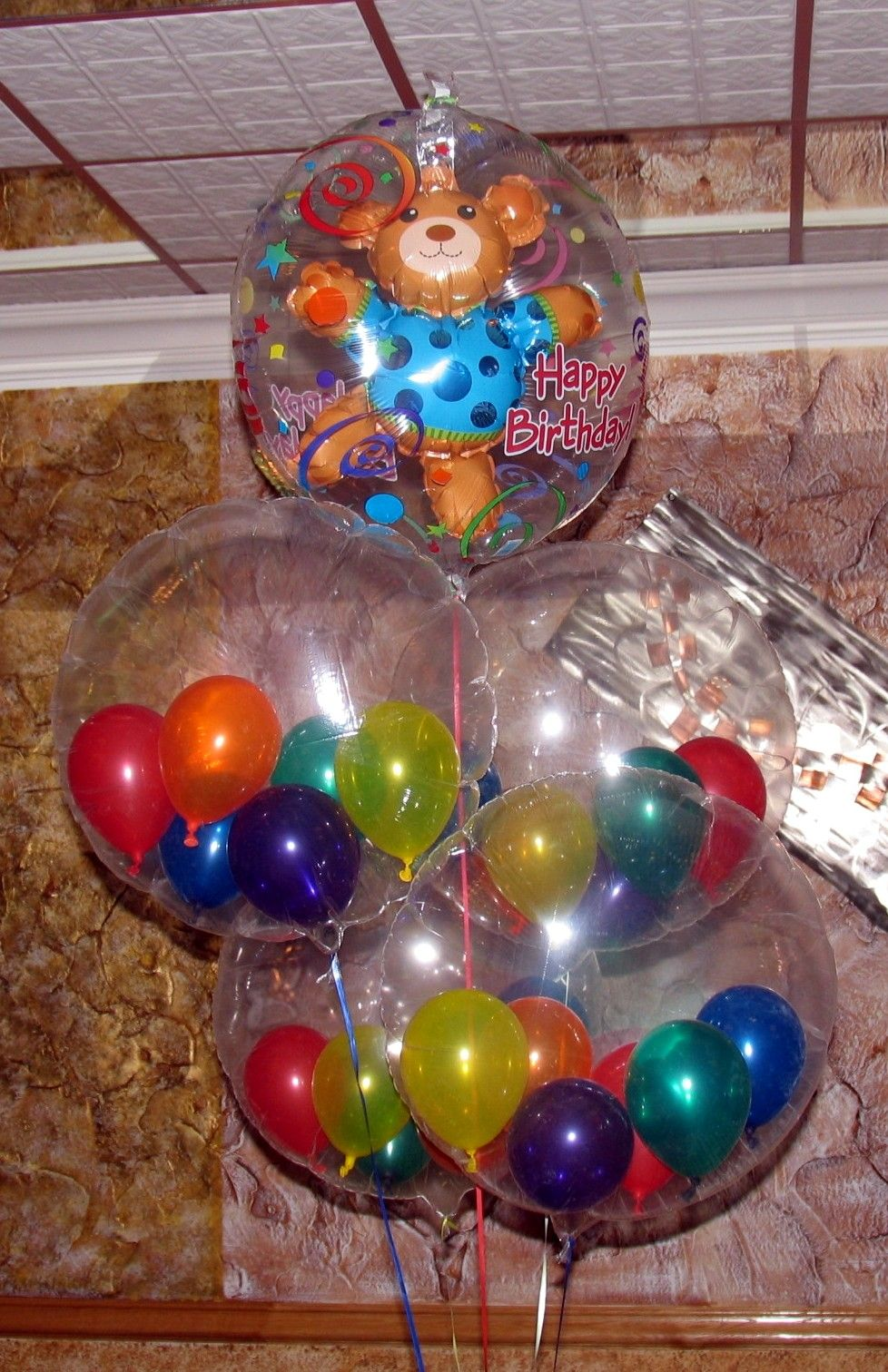 Balloon Party Decor Get Clear Frm Dollar Tree For Vanas