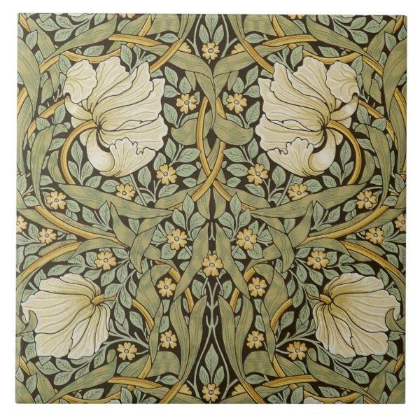 William Morris Pimpernel Vintage Pre Raphaelite Ceramic Tile