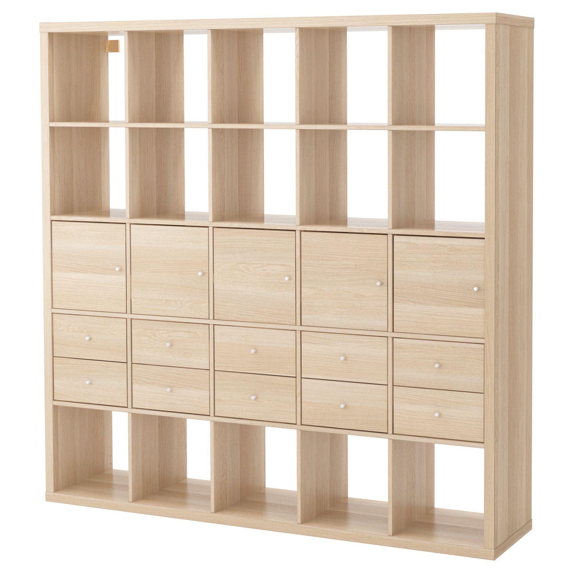 Ikea regalsystem kallax  KALLAX, Regal mit 10 Einsätzen, Eicheneff wlas, Jetzt bestellen ...