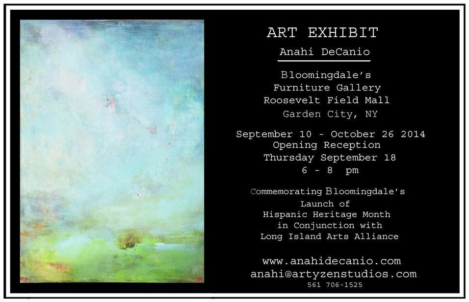 Anahi DeCanio Art Exhibit   Bloomingdale s Roosevelt Field Mall   Garden  City NY   via Long. Anahi DeCanio Art Exhibit   Bloomingdale s Roosevelt Field Mall