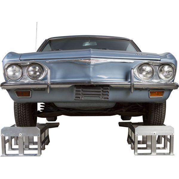 Extra Long Aluminum Two Piece Car Service Ramps 3 000 Lb Per