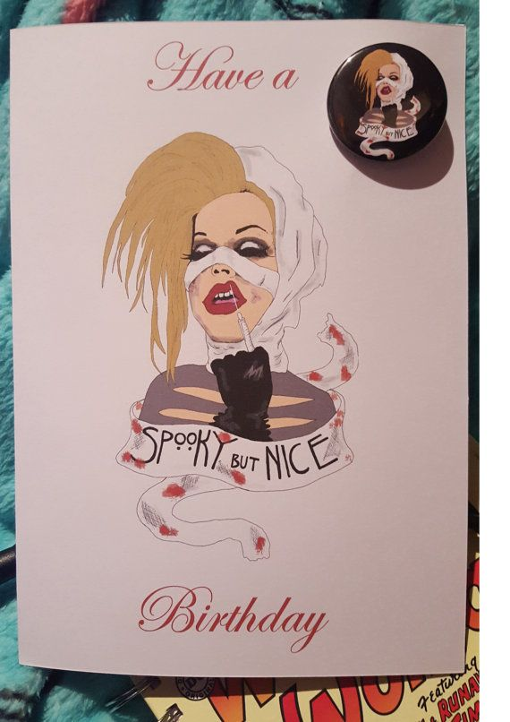 Sharon Needles Drag Queen Birthday Card By CharliesCrazyCouture