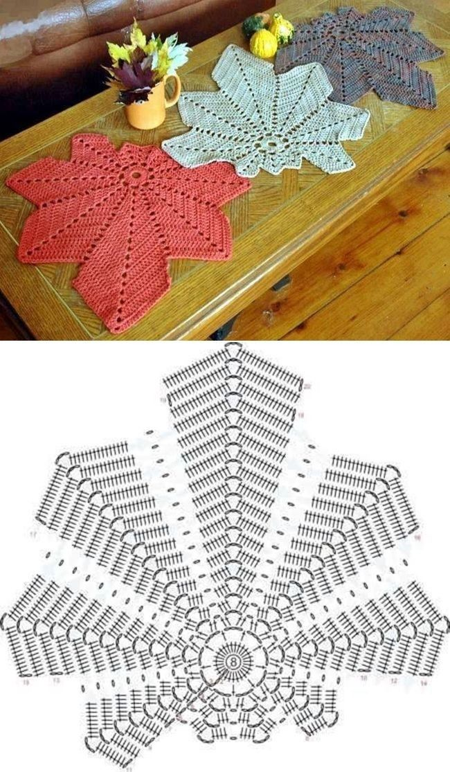가을엔 낙엽을 뜨겠어요~(코바늘도안) : 네이버 블로그 | Crochet ...