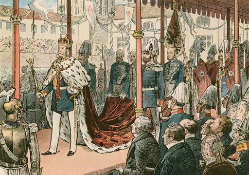 The Coronation Of Wilhelm I King Of Prussia And First German