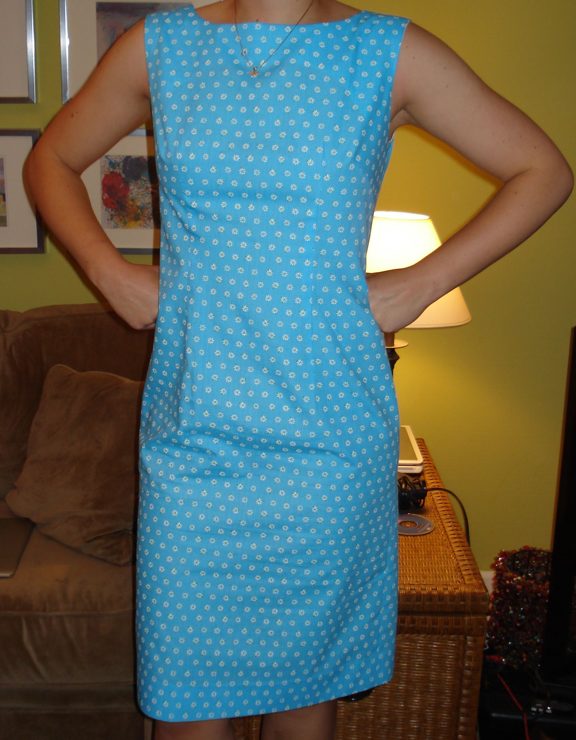 1st attempt - McCall's 2401 - daisy seersucker.  Have since adjusted fit.