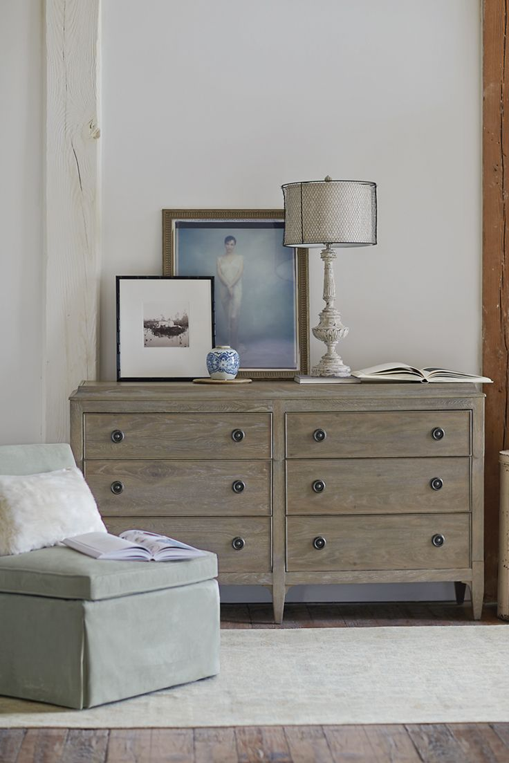 Bernhardt Auberge Dresser White Oak Weathered Finish Furniture Sofa Bed Design Farmhouse Furniture [ 1103 x 736 Pixel ]