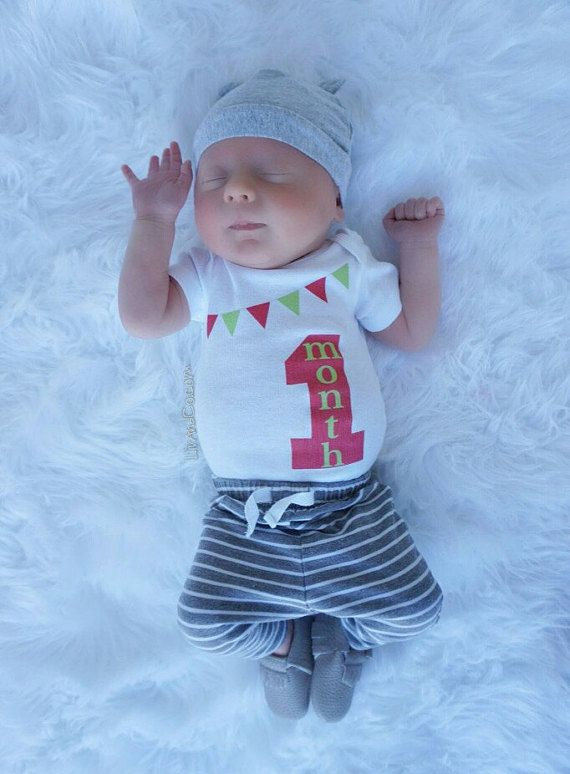 1967e627f Baby Boy Baby Girl Clothes One Month Baby by LivAndCompanyShop ...