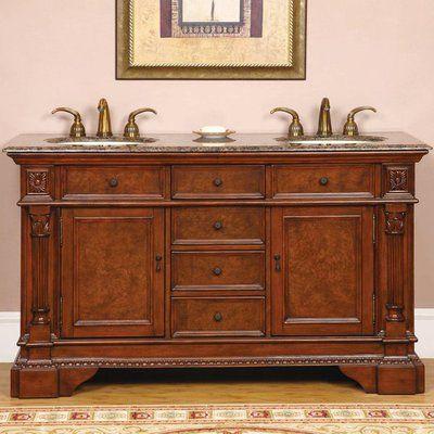 Silkroad Exclusive Double 60 Bathroom Vanity Hyp 0209 60