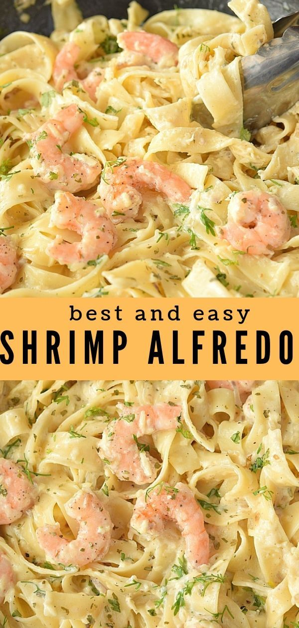 Try This Best Olive Garden Shrimp Alfredo #easyshrimprecipes