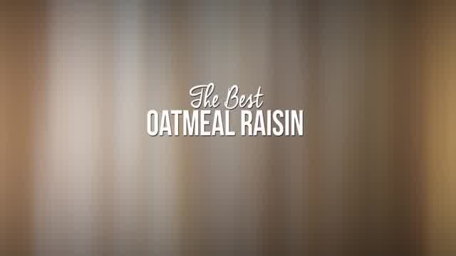 The Best Oatmeal Raisin Cookies Recipe (VIDEO) - A