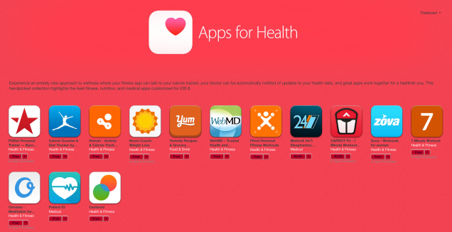 These 14 Handpicked HealthKit Apps Have Their Own iTunes