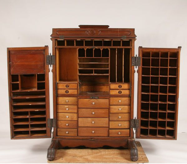 since we rent out our house i need to have some kind of desk that rh pinterest com Computer Secretary Cabinet Secretary Desk Cabinet Bail Pulls