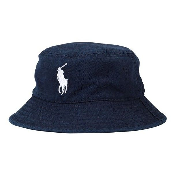 c57370324128e Ralph Lauren Chino Bucket Hat (Toddler Boys) White One Size ( 25) ❤ liked  on Polyvore featuring hats