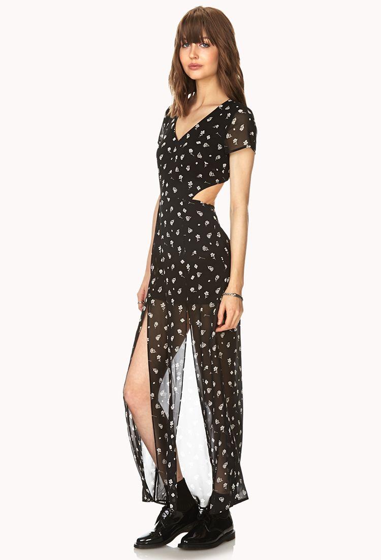 Fl Cutout Maxi Dress Forever21 2000090527