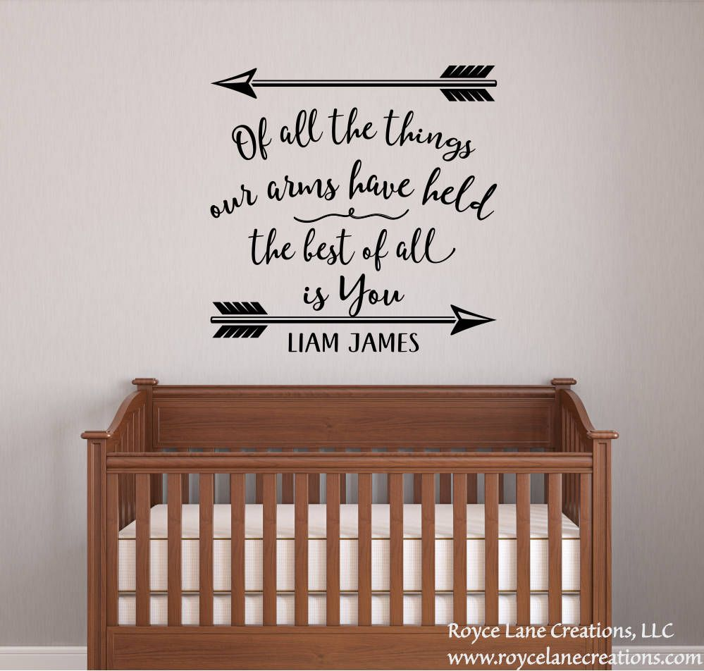 Baby Boy Nursery Decal Quotes Name