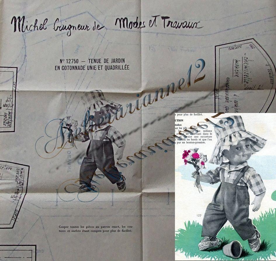 ❤ Patron original poupée Michel MODES ET TRAVAUX, Juin 1963 ❤ : 4,99 EUR