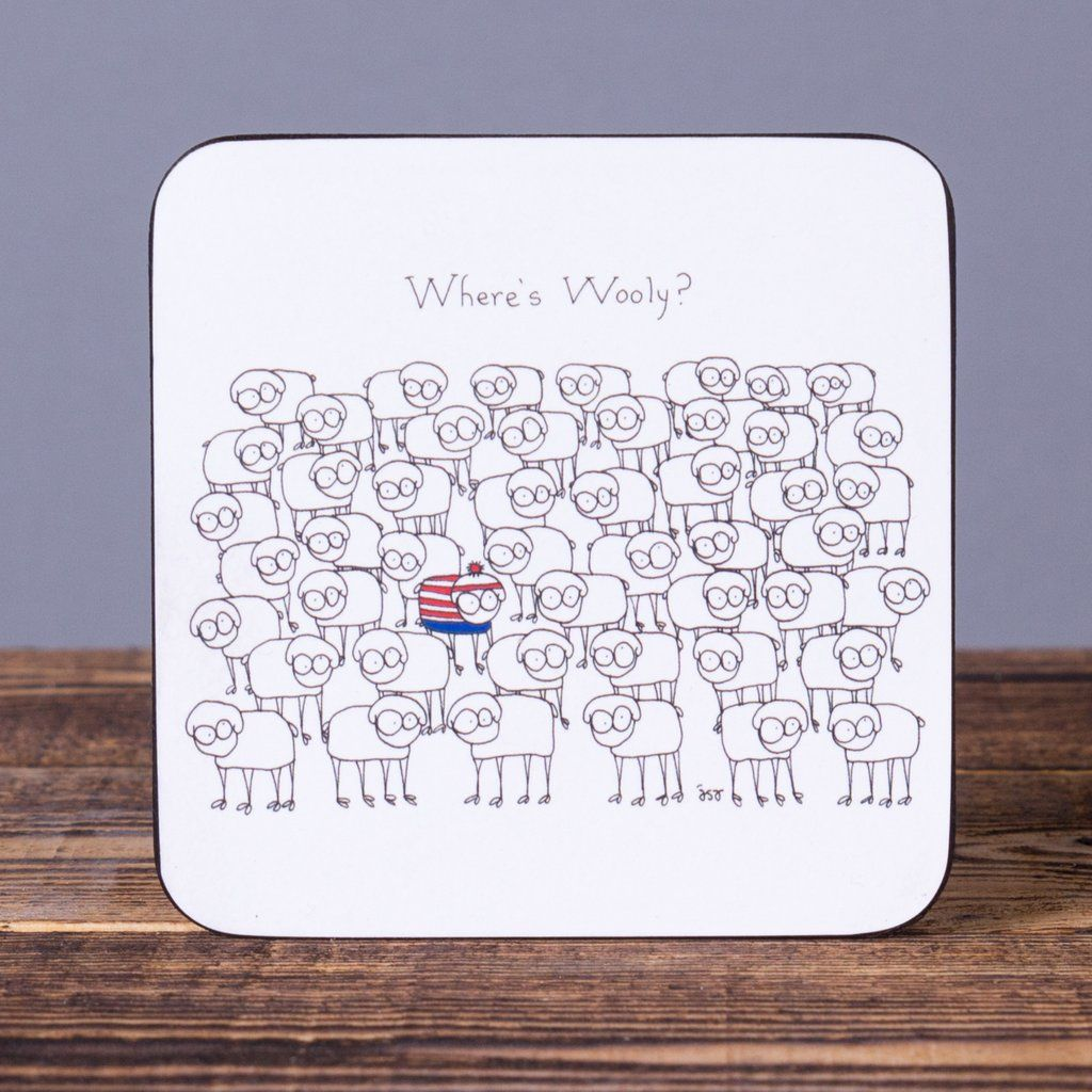 Where's Wooly Set of 6 Cork Coasters Cork coasters