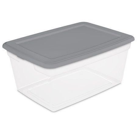 Sterilite 50 Quart Storage Box (DRP) Titanium, Set Of 8, Silver