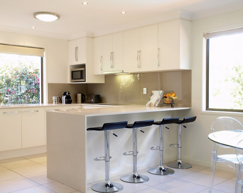 U Shaped Kitchen With Breakfast Bar Google Search