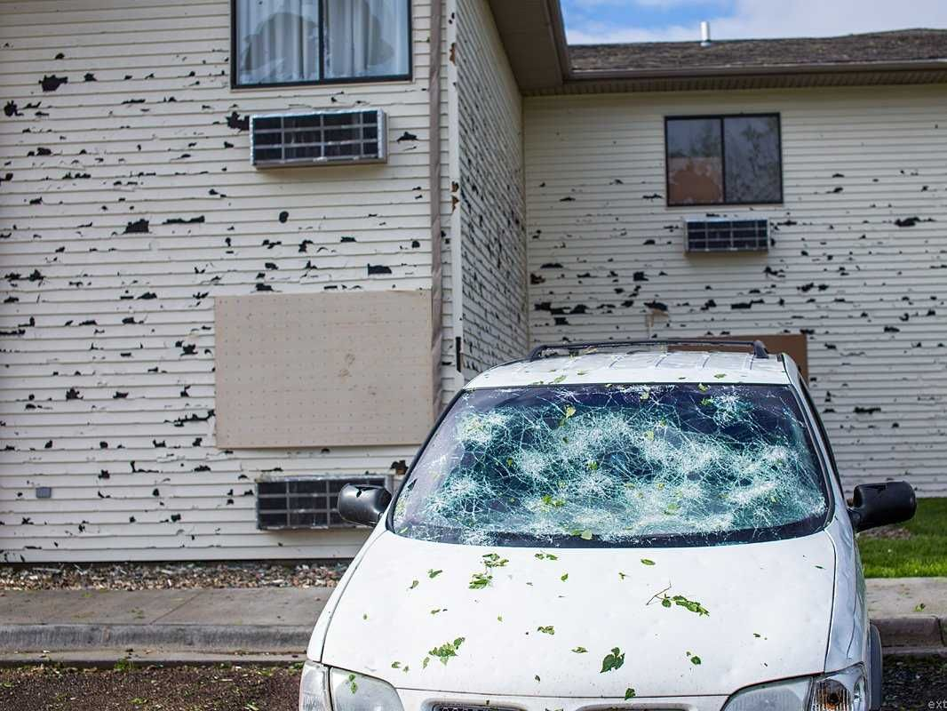 These Insane Photos Show The Intense Damage Caused By A Hail Storm Hail Storm Storm Hail