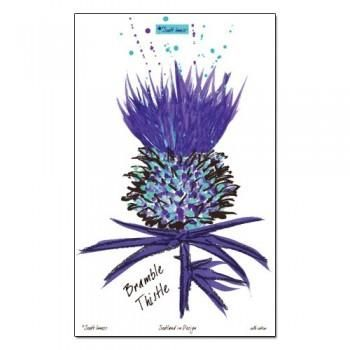 Bramble Thistle Tea Towel Thistles Art Thistle Scottish Tattoos