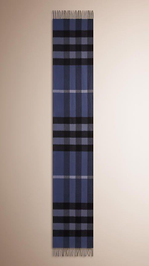 Chardon bleu Écharpe en cachemire à motif check - Image 4 Burberry Scarf,  Bleu, f5f139fe93d