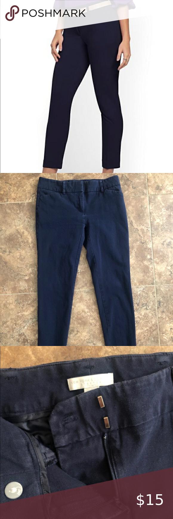 Hook And Bar Closure For Pants : closure, pants, NY&Co, Ankle, Pants, Front, Double, Hook-and-bar, Closure., Loops., Slash, Pockets, Pocket., Pants,