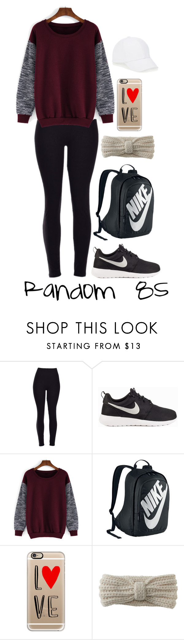 """""""Random 85"""" by megan-walz21 ❤ liked on Polyvore featuring NIKE, Casetify, Aéropostale and Talbots"""