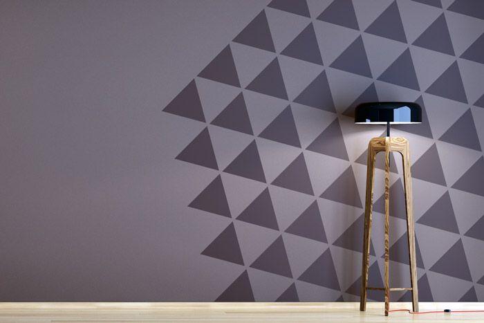 Dreiecke An Die Wand Malen Und So Eine Zweifarbige Wand Kreativ