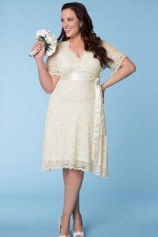 vestidos de novia cortos y largos para gorditas | bodas | vestidos