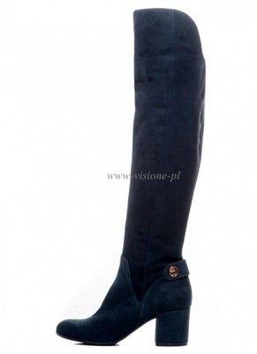 c1ac167b3386b Buty BALDOWSKI Granatowe Długie Kozaki wz.1828 | Kocham buty ...