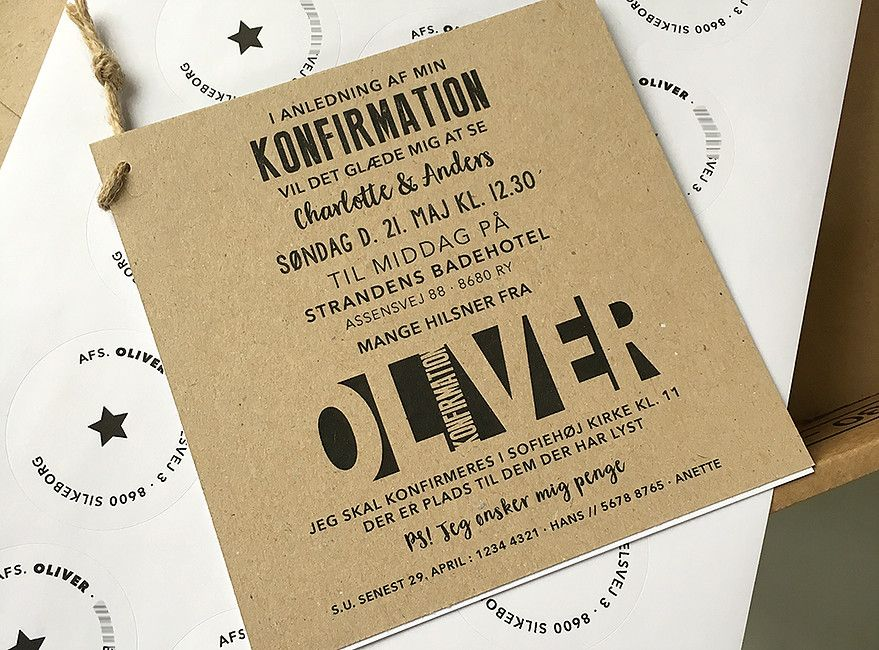 Indbydelse Invitation Konfirmation Invitationer Invitation Fest Invitationer