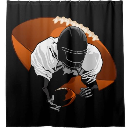 Football Diving Catch Shower Curtain Zazzle Com Football