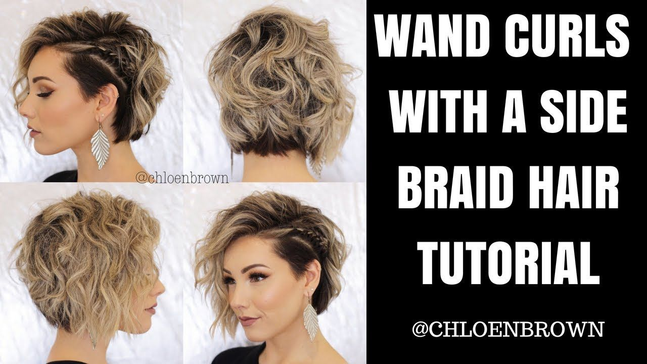 Wand Curls Hair Tutorial Short Hair Curling Wand Short Hair Short Hair Tutorial Hair Curling Tutorial