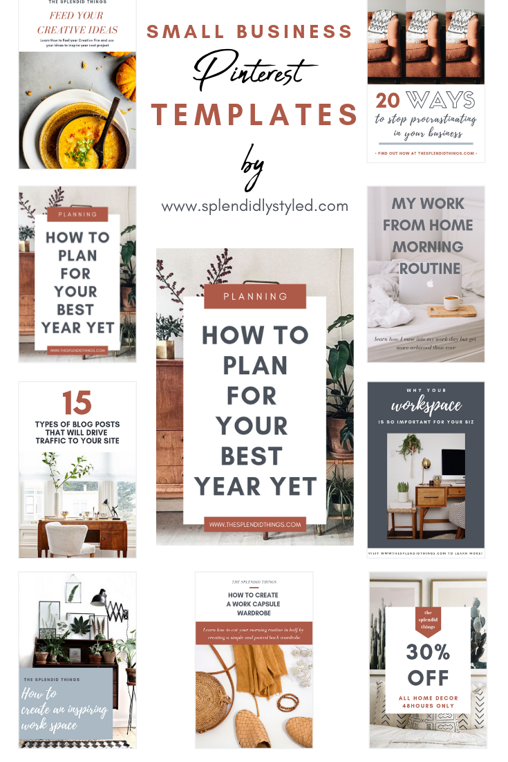 Canva Pinterest Templates for Small Business Owners