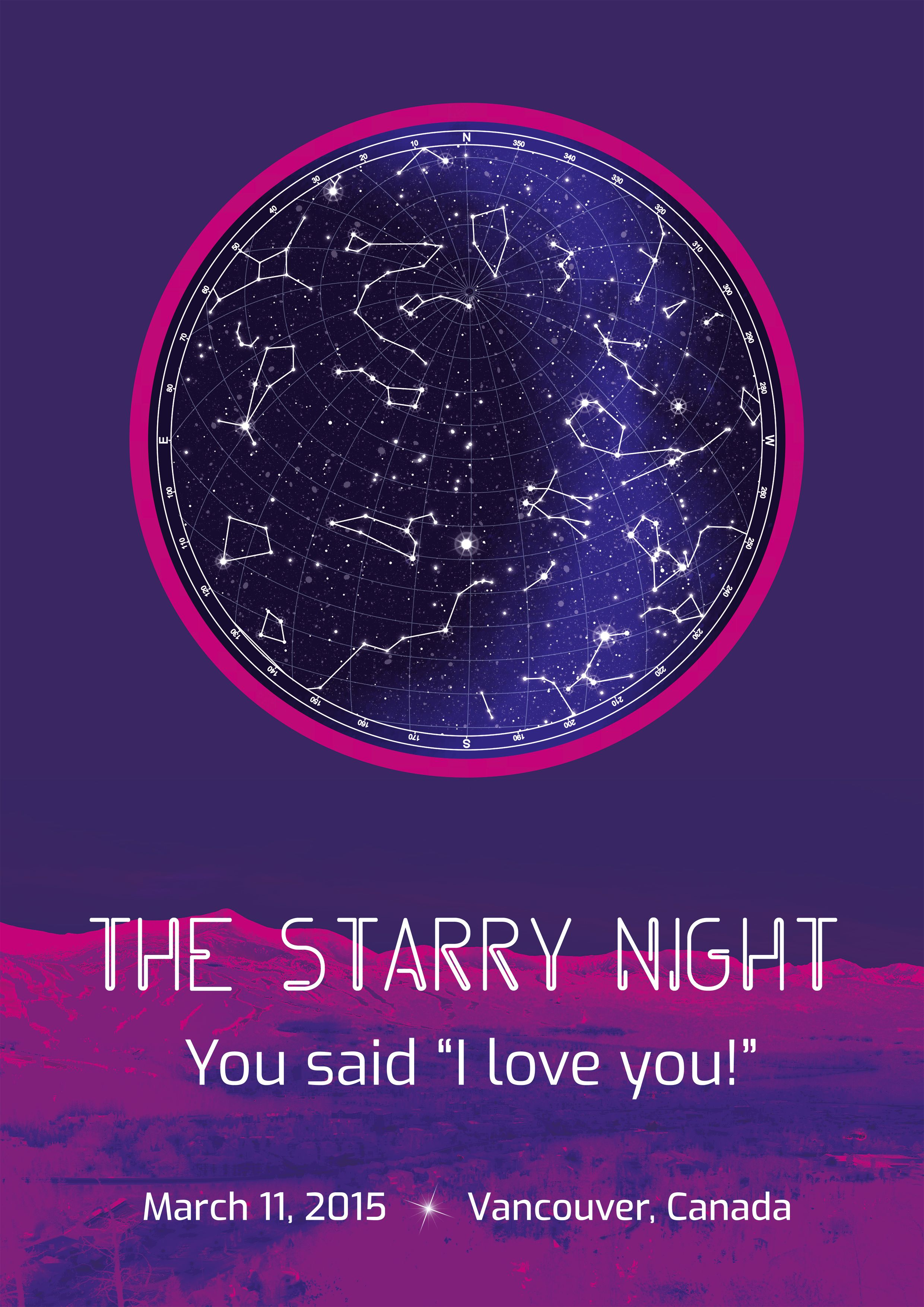 What Is A Star Map.The Night We First Met Digital Star Map Customized Sky Chart Poster