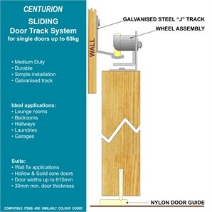 Cowdroy Track Door 915mm 60kg Centurion Sliding Door Track Set Track Door Sliding Door Track Door Sets