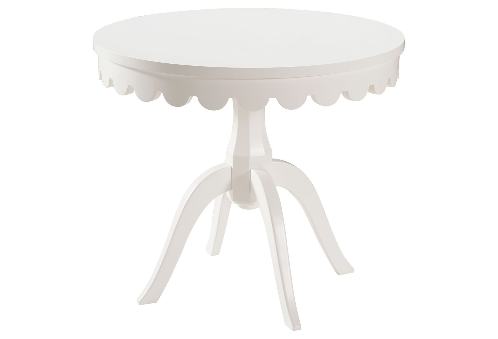 Lucia Side Table White Connecticut Classic One Kings Lane White Round Tables Round Furniture White Accent Table