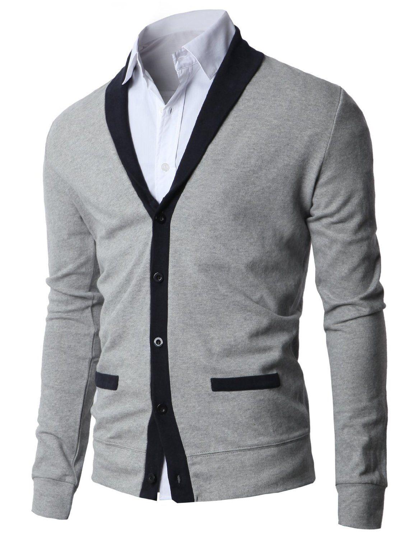 Mens Shawl Collar Cardigan with Fake Pockets | Men's Fashion ...